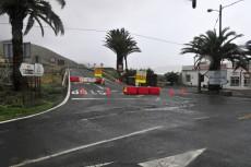 La lluvia cierra la carretera hacia Agaete