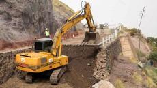 160303 Visita a las obras del derrumbe de la GC200 en El Risco