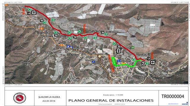 Planos de organización del Slalom La Aldea 2016