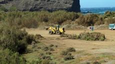 NC denuncia destrucción de zona con sensibilidad arqueológica para aparcamientos