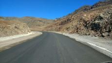 Obras de asfaltado en los túneles de la nueva carretera