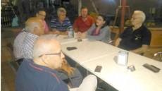 Reunión del Foro Roque Aldeano con Podemos sobre la carretera