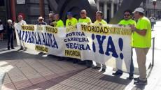 Protestas del Foro Roque Aldeano en Triana