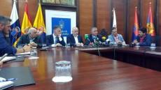 Cabildo, Ayuntamiento de La Aldea y Foro hablan del estado de las obras de la carretera