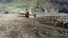 Obras en la carretera y la playa de Tasartico