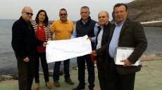 Firma del acta de las obras de protección del litoral en la avenida marítima