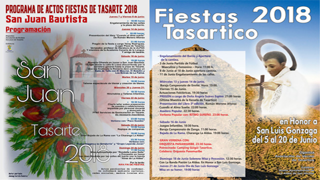 Carteles fiestas Tasarte-Tasartico