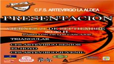 Cartel presentación CFS Artevirgo 2018-2019