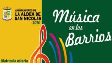 Cartel Música barrio a barrio