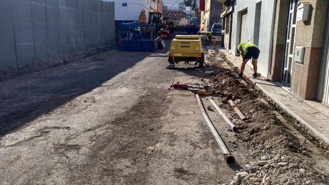 Renovación red secundaria saneamiento